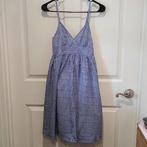 Gap Blue & White Striped Dress- Size-XS